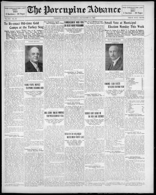 Porcupine Advance, 4 Dec 1930