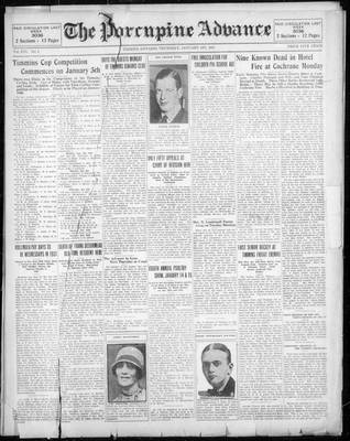 Porcupine Advance, 1 Jan 1931