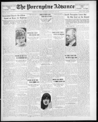 Porcupine Advance, 19 Feb 1931