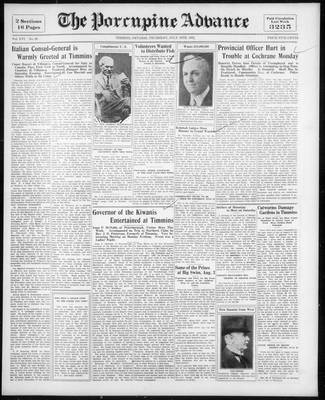 Porcupine Advance, 16 Jul 1931