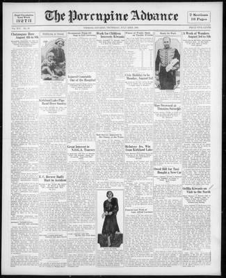 Porcupine Advance, 23 Jul 1931