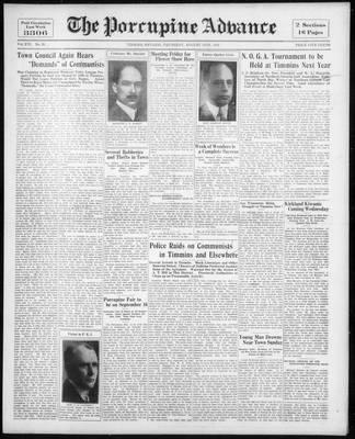 Porcupine Advance, 13 Aug 1931