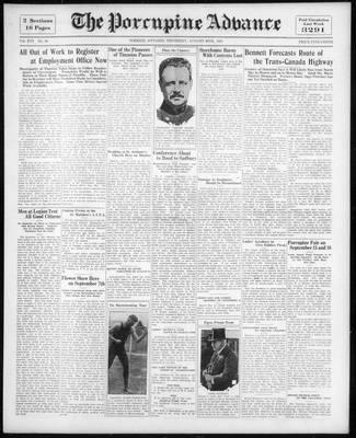 Porcupine Advance, 20 Aug 1931
