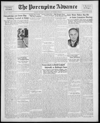 Porcupine Advance, 17 Sep 1931