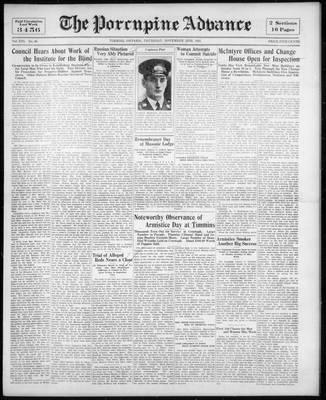 Porcupine Advance, 12 Nov 1931