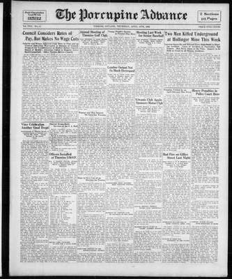 Porcupine Advance, 14 Apr 1932