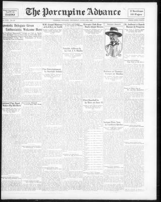 Porcupine Advance, 9 Jun 1932