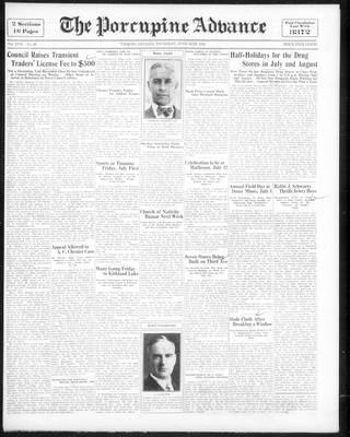 Porcupine Advance, 30 Jun 1932