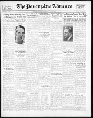 Porcupine Advance, 7 Jul 1932