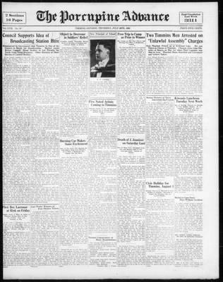 Porcupine Advance, 28 Jul 1932