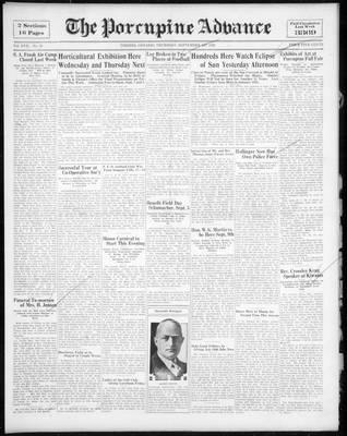 Porcupine Advance, 1 Sep 1932