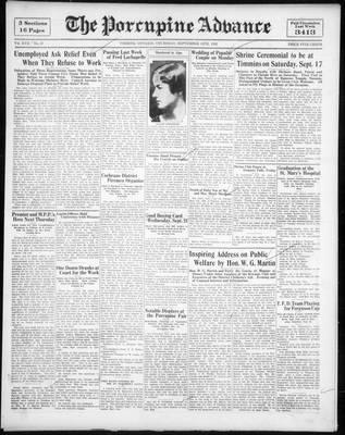 Porcupine Advance, 15 Sep 1932