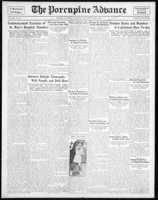 Porcupine Advance, 22 Sep 1932