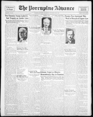 Porcupine Advance, 13 Oct 1932