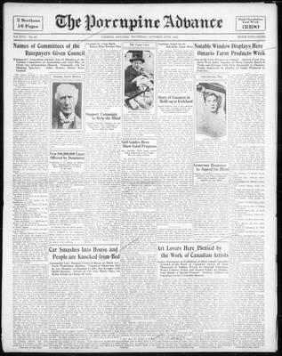 Porcupine Advance, 27 Oct 1932