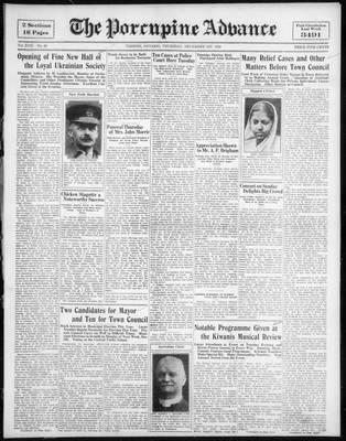 Porcupine Advance, 1 Dec 1932