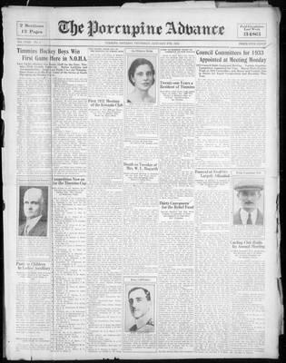 Porcupine Advance, 5 Jan 1933