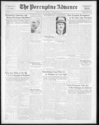 Porcupine Advance, 9 Feb 1933