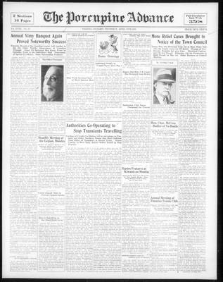 Porcupine Advance, 13 Apr 1933