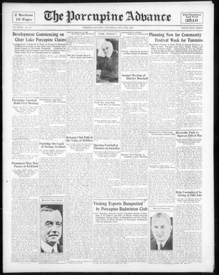 Porcupine Advance, 4 May 1933