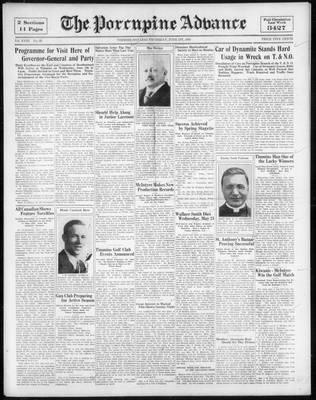 Porcupine Advance, 1 Jun 1933