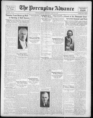 Porcupine Advance, 8 Jun 1933