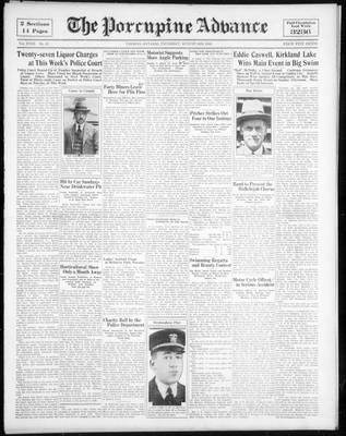 Porcupine Advance, 3 Aug 1933