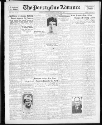 Porcupine Advance, 10 Aug 1933