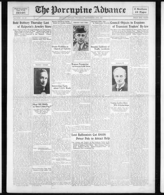 Porcupine Advance, 14 Sep 1933