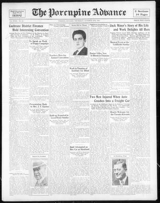 Porcupine Advance, 5 Oct 1933