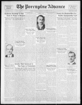 Porcupine Advance, 2 Nov 1933