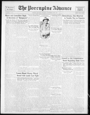 Porcupine Advance, 16 Nov 1933
