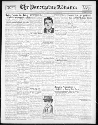Porcupine Advance, 23 Nov 1933