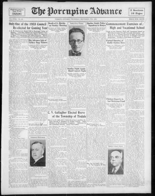 Porcupine Advance, 7 Dec 1933