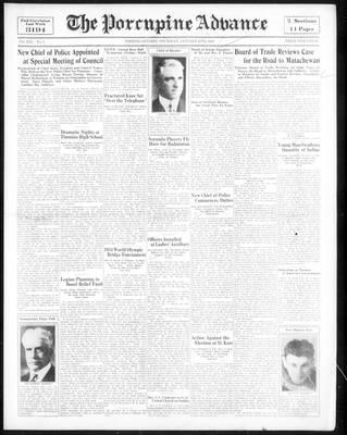 Porcupine Advance, 25 Jan 1934