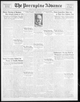 Porcupine Advance, 19 Apr 1934