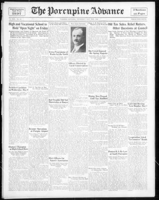 Porcupine Advance, 3 May 1934