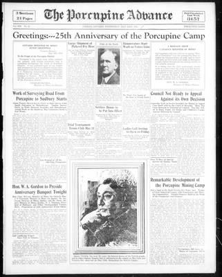 Porcupine Advance, 23 May 1934