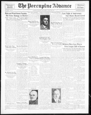 Porcupine Advance, 7 Jun 1934