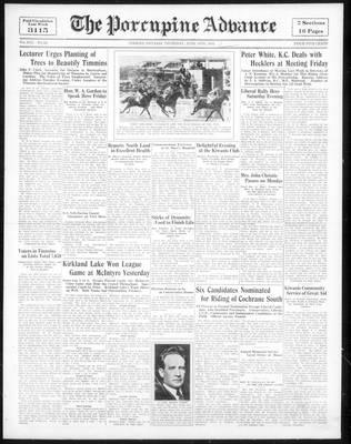 Porcupine Advance, 14 Jun 1934