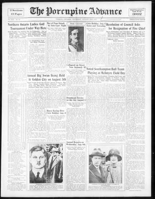 Porcupine Advance, 2 Aug 1934