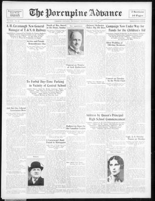 Porcupine Advance, 1 Nov 1934