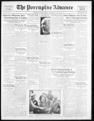 Porcupine Advance, 15 Nov 1934