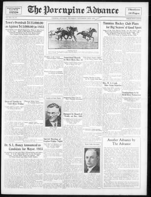 Porcupine Advance, 22 Nov 1934