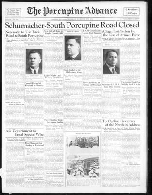 Porcupine Advance, 6 Dec 1934
