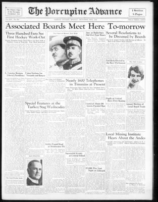Porcupine Advance, 10 Dec 1934