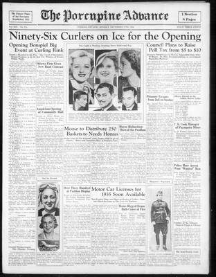 Porcupine Advance, 17 Dec 1934