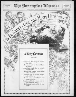 Porcupine Advance, 24 Dec 1934