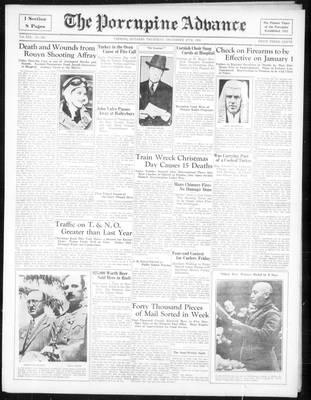 Porcupine Advance, 27 Dec 1934