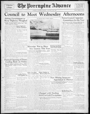 Porcupine Advance, 7 Jan 1935